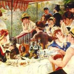 Out by Ten is casual and festive, like this group toasting and laughing at Renoir's Boating Party.