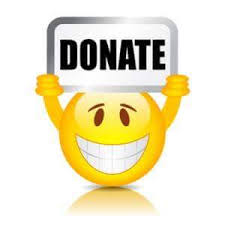 smiley donate button