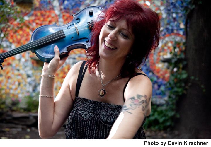 Deni Bonet with her Happy Violin