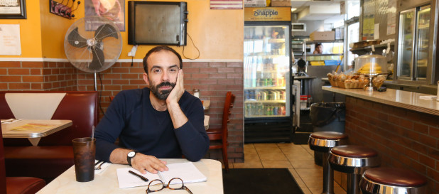 Before playing Out by 10 Comedian Mark Pagan sits in a diner