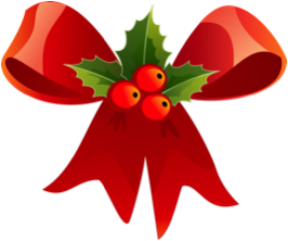 Gift bow with berries