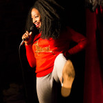 At Out by 10 Marie Faustin tells funny tales and kicks up a ruckus.
