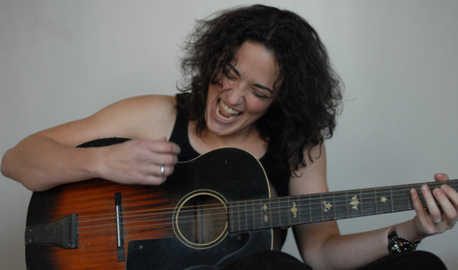 At Out by 10 Trina Hamlin sings ballads, folk rock and blues and plays guitar and harmonica