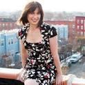 Ophira Eisenberg on a ledge